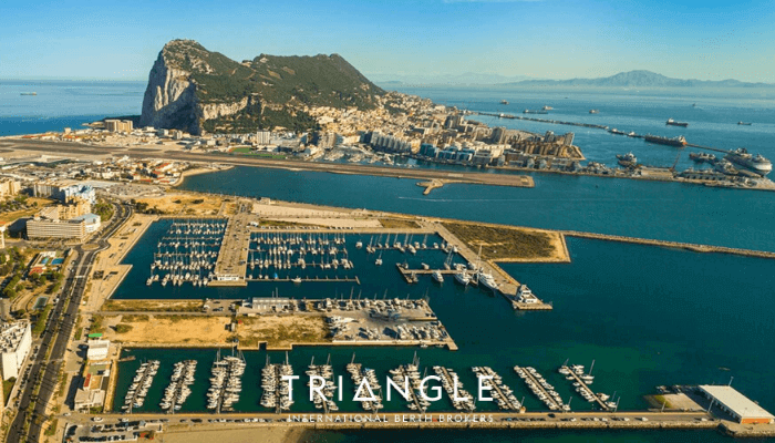 Alcaidesa Marina and the Rock of Gibraltar