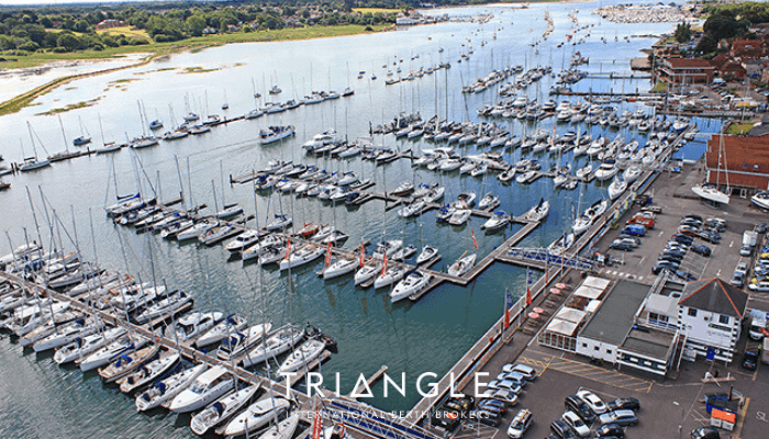 Port Hamble Marina overview