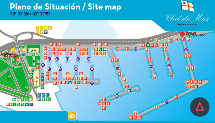 Club de Mar map image