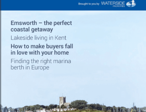 Front cover of WatersideLife homes for sale and rent by the water